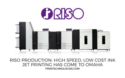 RISO Production, high speed, low cost ink jet printing has come to Omaha